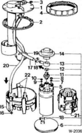 1 - датчик уровня топлива 2